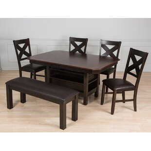 6 Piece Solid Wood Dining Set by AW Furni..
