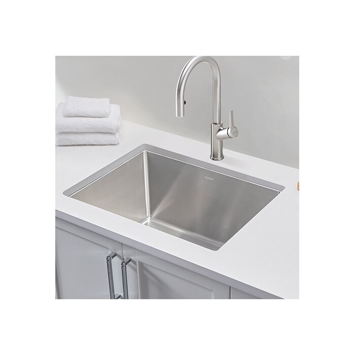 blanco quatrus r15 stainless steel r15 25 x 22 drop in laundry