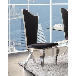 Araiza Upholstered Dining Chair (Set of 2) by Everly Quinn SKU:BD673765 Details
