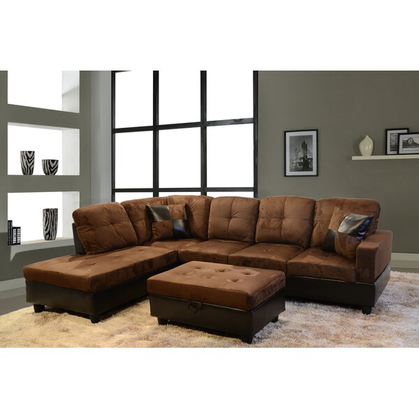 Starhomelivingcorp 103 Wide Sofa Chaise With Ottoman Reviews Wayfair