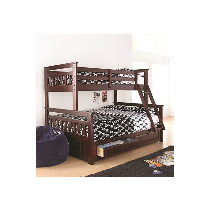 Springdale Twin Over Double Bunk Bed With Storage Drawer