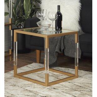 Metal, Glass and Acrylic End Table