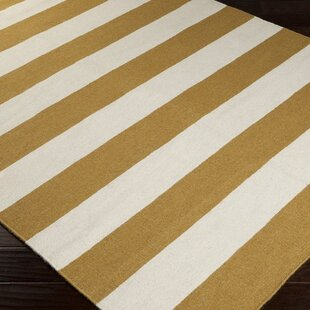 Top Harietta Wasabi/Pale Blue Striped Area Rug By Latitude Run