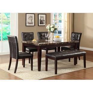 Bishop 6 Piece Solid Woodv Dining Set by Red Barrel Studio Herry Up