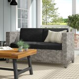 Furst Outdoor Loveseat with Cushions byWade Logan