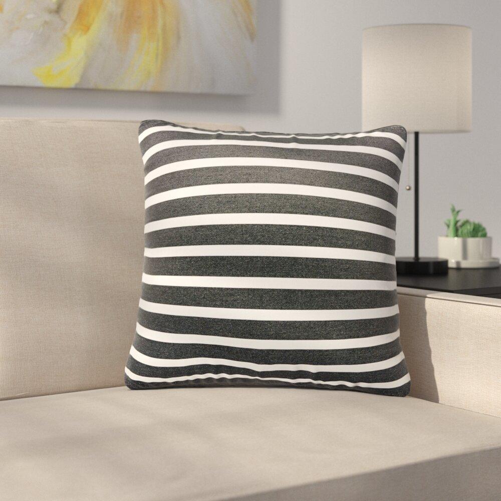 Ebern Designs Meaghan Stripe Indoor Outdoor Throw Pillow Wayfair