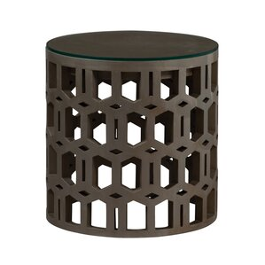 Lorrona Art Deco End Table by World Menagerie