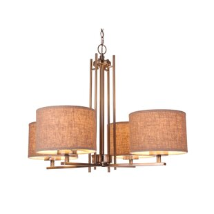 Brayden Studio Juhasz Modern 4-Light Shaded Chandelier