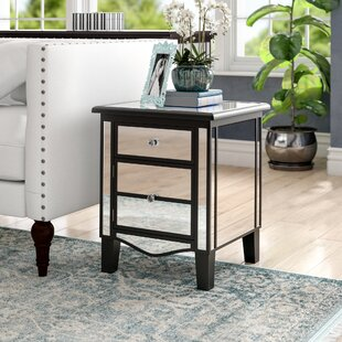 Reviews Romarin Mirrored End Table By Willa Arlo Interiors