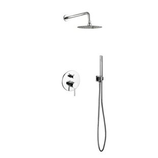 Rebrilliant Bustillos Diverter Complete Shower System with Metal Round Han..