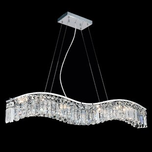 Everly Quinn Kasha 7-Light Crystal Chandelier