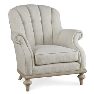 One Allium Way Burnet Upholstered Christiansen Tufted Armchair and Ottoman
