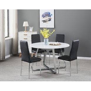 Acoidan Dining Set With 4 Chairs By 17 Stories