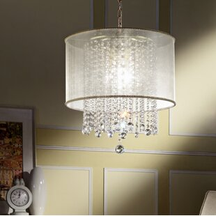 House of Hampton Broussard 3-Light LED Crystal Chandelier