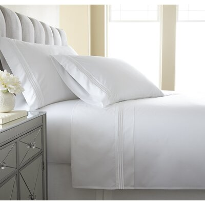 Charlotte Embroidered 300 Thread Count 100% Cotton Sheet Set Austin Horn En