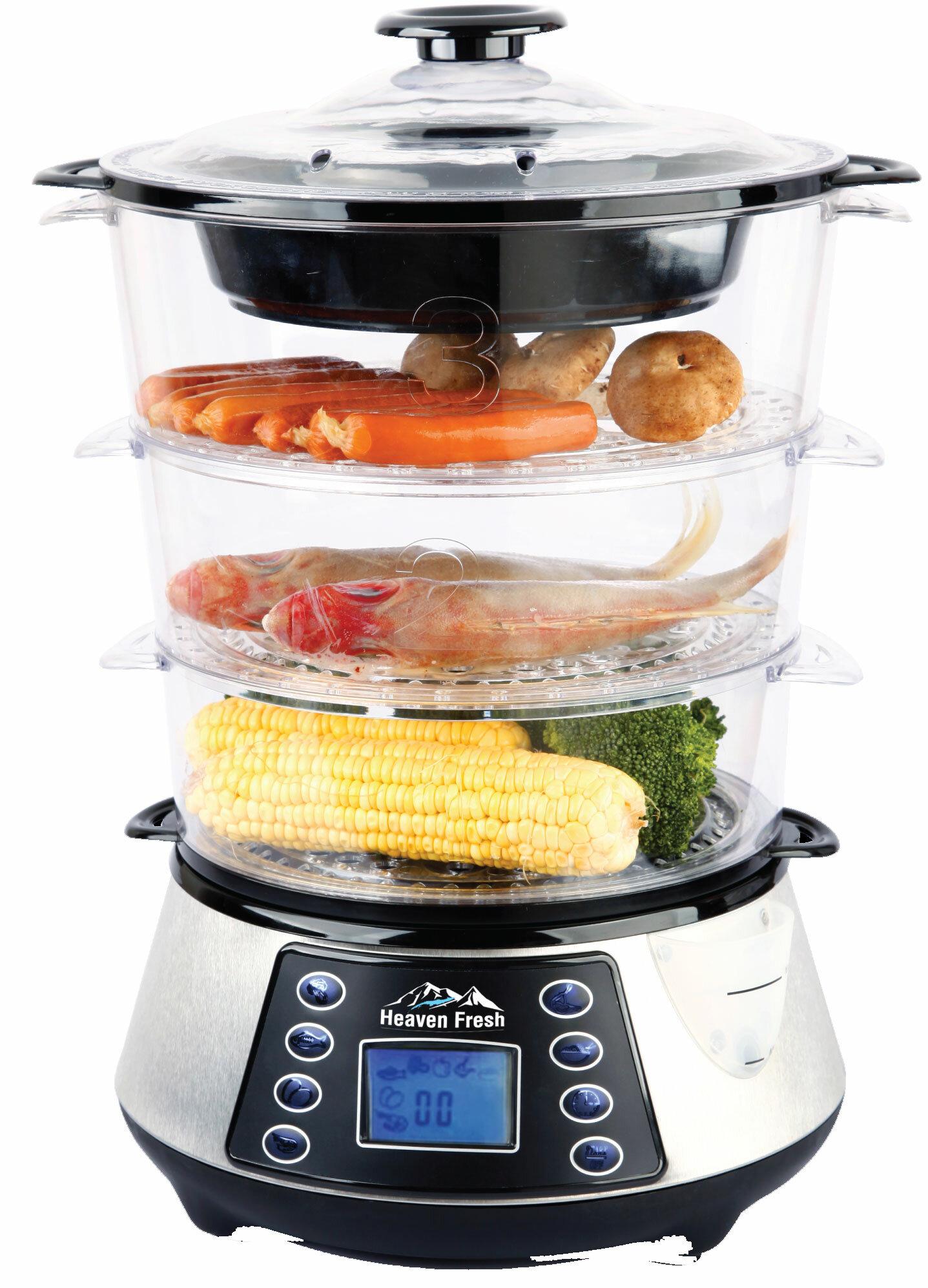 Heaven Fresh NaturoPure™ Digital Food Steamer U0026 Reviews | Wayfair