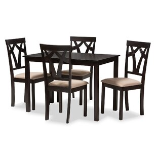 Wrentham 5 Piece Dining Set Winston Porter