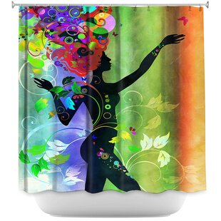 Wondrous Rainbow 3 Single Shower Curtain