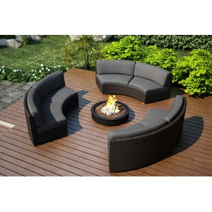 Hodge 3 Piece Sunbrella Sofa Set with Cushions