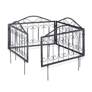 Eveleth 2.2m X 0.5m Border Fence By Lily Manor