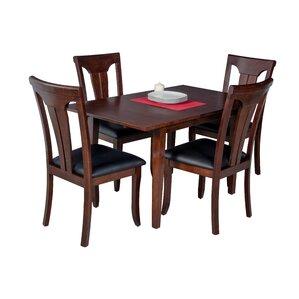 Assante 5 Piece Wood Dining Set by Alcott..