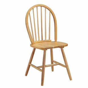 Plant Windsor Spindleback Solid Wood Dining Chair (Set of 2) by August Grove
