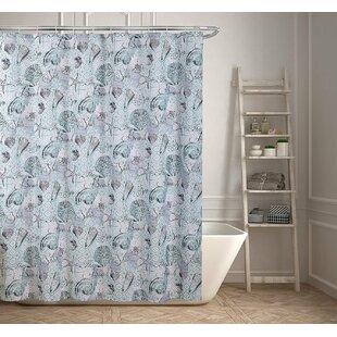 Beach And Seashells Printed Shower Curtain