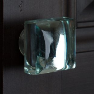 Modern Mirror Glass Cabinet Square Knob