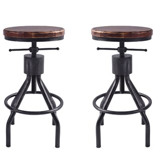 Verdell Backless Adjustable Height Bar Stool - set of 2 (Set of 2) by 17 Stories
