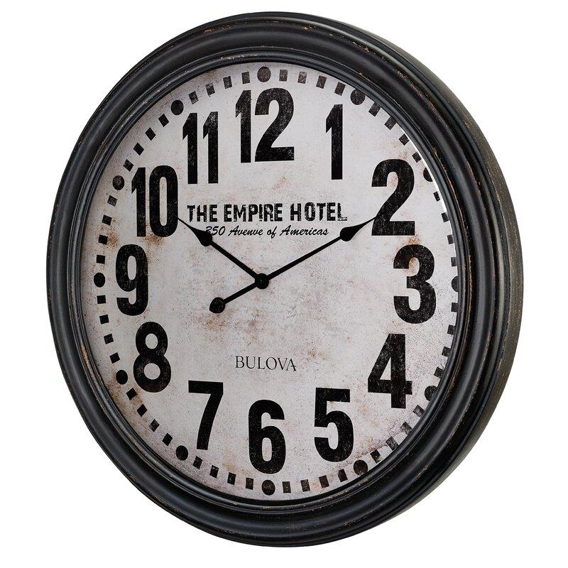 Bulova Oversized Carmel 3075 Wall Clock Wayfair