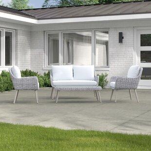 Diamond 4 Seater Rattan Sofa Set By Zipcode Design