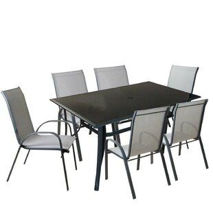 Elanah 7 Piece Mesh Outdoor Patio Dining Set (Set of 7)