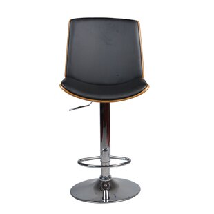 Brickhouse Adjustable Height Swivel Bar Stool George Oliver