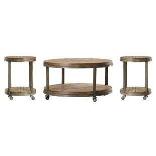 Drossett 3 Piece Coffee Table Set ByTrent Austin Design