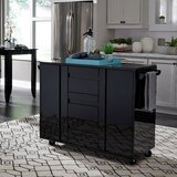 Emblyn Kitchen Island Cart with Granite Top by Latitude Run