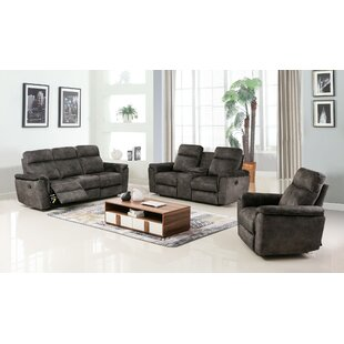 Palu Reclining 3 Piece Living Room Set Loon Peak