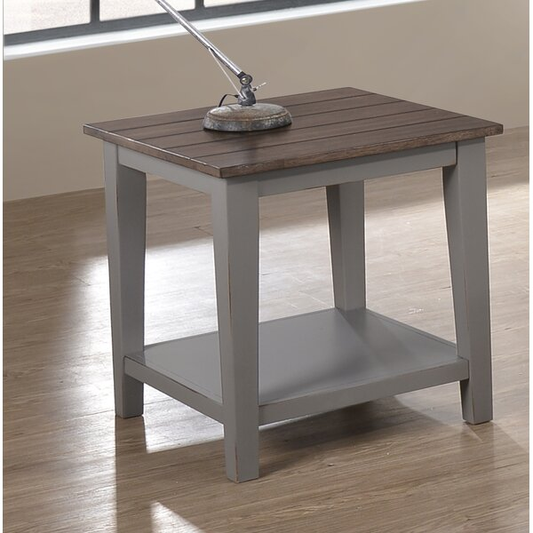 August Grove Colne End Table With Storage Reviews Wayfair