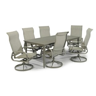 Dinapoli Outdoor 7 Piece Dining Set