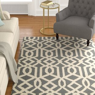 Hulings Hand-Knotted Gray/Ivory Area Rug byAlcott Hill