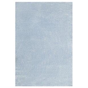 Plain Woven Blue Rug