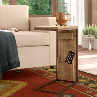 Loon Peak Baillons Rustic Rectangular Open Framed End Table