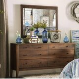 Bittle 6 Drawer Double Dresser with Mirror by Winston Porter