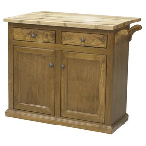 Kitchen Island with Butcher Block Top by Eagle Furniture Manufacturing