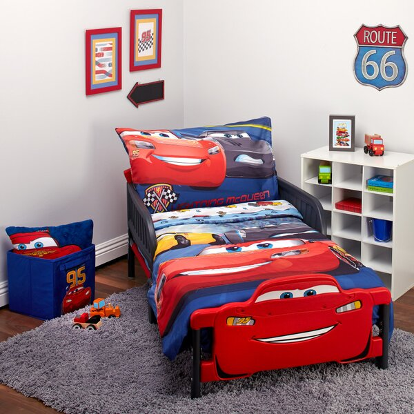 Disney Cars 3 Top Speed 4 Piece Toddler Bedding Set & Reviews