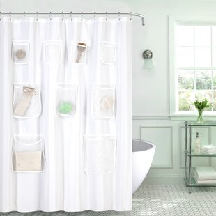 Great Price Fabric Shower Curtain with Pockets ByRebrilliant