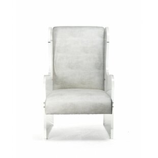 Everly Quinn Larock Acrylic Wingback Chair