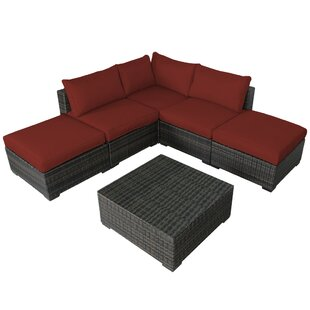Barwick 6 Piece Sectional Set with Cushions by Sol 72 Outdoor