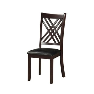 Bartelt Leatherette Solid Wood Dining Chair (Set of 2)