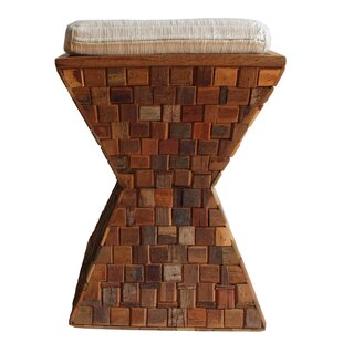 Mosaic Wood Accent Stool by Asian Art Imports