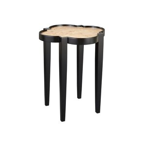 Shaped with Burl End Table..